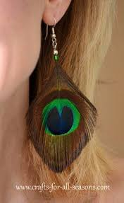 how to make feather earrings with peacock feather earrings