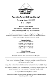 recent announcements unity east elementary