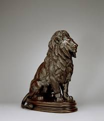 barye lion sculpture file antoine louis barye seated lion no 1 walters 27120