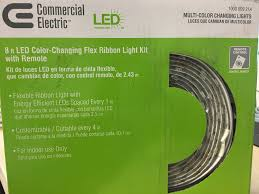 commercial electric led flex ribbon light kit commercial electric 8 ft led flexible rated clear under cabinet