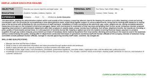 junior executive cover letter u0026 resume