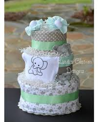 cake centerpiece amazing deal on elephant mint green gray cake baby shower