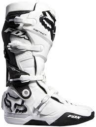 white motocross boots fox racing instinct mx boots