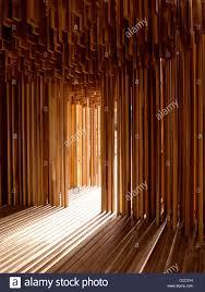 Wooden Panelling by Sclera Pavilion Adjaye Associates Southbank London 2008