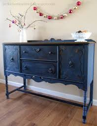 Painting Furniture Black by Helen Nichole Designs Soldier Blue Buffet