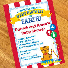 top baby shower big top circus baby shower decorations