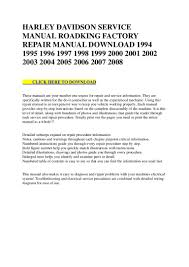 60856 harley davidson service manual roadking factory repair manual d u2026