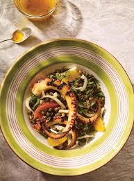 cuisiner du poulpe salade de pieuvre aux lentilles au fenouil et aux agrumes ricardo