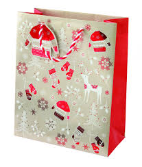 christmas gift bag scandinavian christmas medium gift bag cancer research uk online