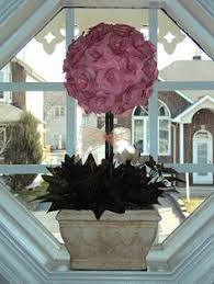 Paper Rose Topiary - rolled rose topiary by sanfransister cards and paper crafts at