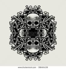 skull silhouette stock images royalty free images vectors