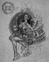 pin up tattoo design creating concepts