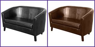 Stylish  Seat Person Leather Effect Tub Sofa Settee Couch Seater - One person sofa