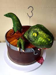 dinosaur escaping cake dark chocolate mud with dark chocolate