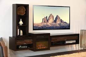home decor cool entertainment stand with fireplace home design