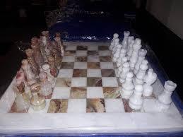 amazon com green u0026 white onyx and marble chess set 16 inch