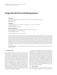 image based 3d face modeling system pdf download available