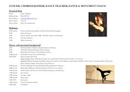 Dance Resume Templates Example Of A Dance Resume Resume Raquel Asheston Resume Template