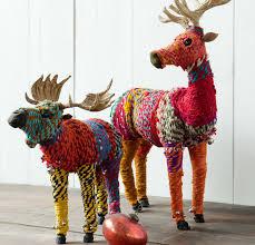 diy rainbow reindeer ornaments chindi reindeer