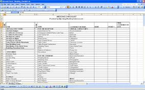 wedding checklist template pdf wedding spreadsheet template
