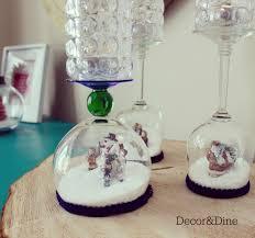 wine glass snow globes farmhouse christmas