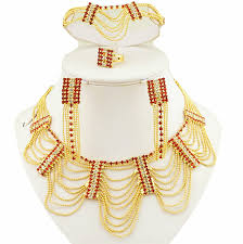 big necklace sets images Buy indian wedding jewelry materilas african jewelry set designers jpg