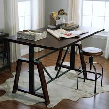 Adjustable Height Desk by Wood Braylen Adjustable Height Work Table World Market