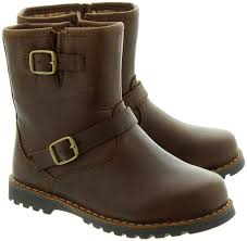 ladies leather biker boots ugg kids harwell biker boot in stout brown in stout brown