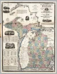 Michigan Lake Maps by Farmer U0027s Township And Railroad Map Of Michigan David Rumsey