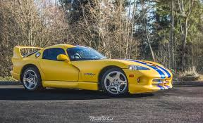 Dodge Viper Yellow - dodge viper gts wrapped in xpel stealth with blue chrome accents