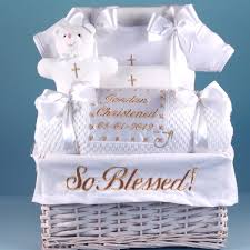 baby basket gifts so blessed christening baby gift basket