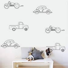 stickers pour chambre bébé garçon 6 style voitures wall sticker pour chambre d enfants garçons chambre