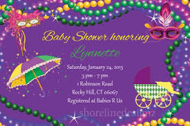 mardi gras babies custom mardi gras baby shower invitation with jpg