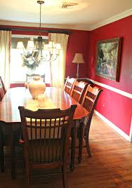 Red Dining Room Ideas In Demand Brown Wooden Painted Dining Sets With Cool Shade Chrome