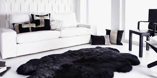 Furry Black Rug 9 Best Sheepskin Rugs 2017 Faux And Real Sheepskin Rug Reviews