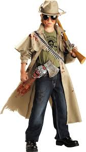Killer Croc Halloween Costume Boys Zombie Hunter Costume Party Halloween