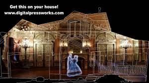 haunted mansion halloween house projection mapping video sample
