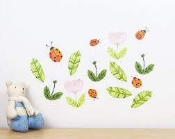 garden wall decal etsy