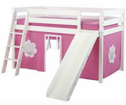 Bunk Bed With Slide And Tent Jackpot Low Loft Bed With Slide Curtains White Bed Frames