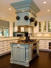kitchen island with hanging pot rack kitchen island green island base granite countertop stove top