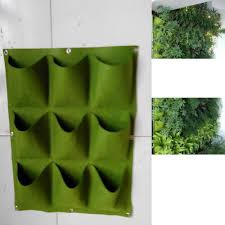 Wall Mounted Planters by Amazon Com Glovion Green 9 Pocket Green Vertical Garden Planter