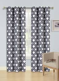 Black And White Blackout Curtains Black White Curtains Seasonal Sale Ease Bedding With Style