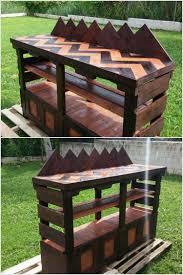 Pallet Furniture Outdoor Bar Prepare Cute Outdoor Bar With Used Wood Pallets Pallet Wood Projects