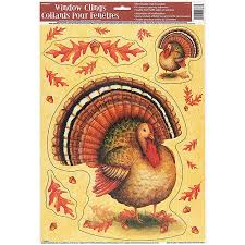 festive turkey thanksgiving window decals walmart