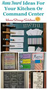 kitchen message board ideas menu board ideas so your family knows what s for dinner