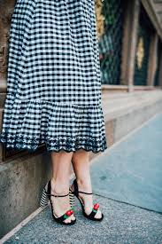 gingham dress lipgloss and crayons