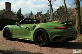 porsche 911 olive green porsche 991 turbo s cabriolet mkii 22 march 2017 autogespot