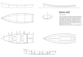 Wood Boat Plans Free by At Last U2013 Construction Drawings For The Barton Skiff Previously