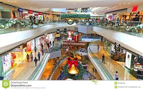 shopping mall with christmas decoration editorial image image