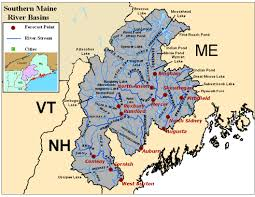 United States Map With Lakes And Rivers by Maine River Basin Photos